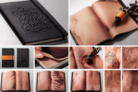 Caderno - pele humana - tatuadores