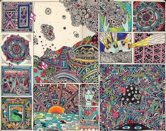 Desenhos detalhados e coloridos 12