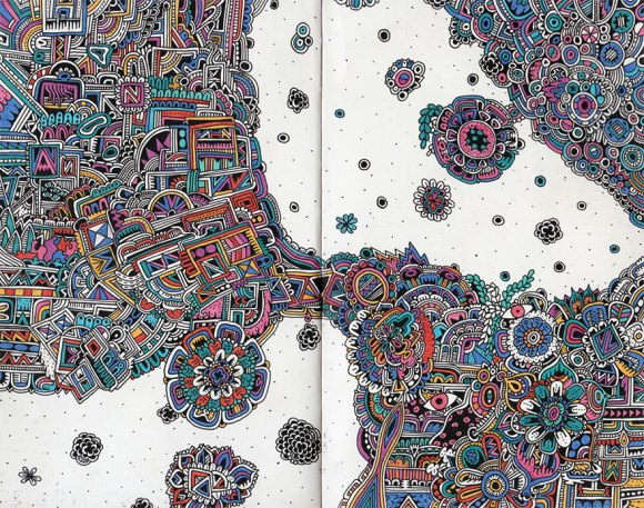 Desenhos detalhados e coloridos 3