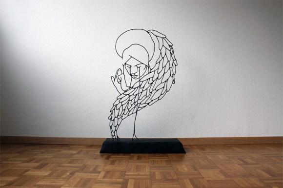 Esculturas de arame 6