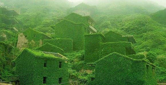 A natureza demonstra o seu poder: veja o que aconteceu com essa vila abandonada na China