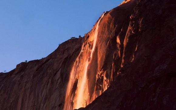 Yosemite Firefall - Parque Nacional Yosemite na California, EUA.