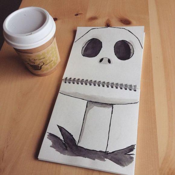 Ilustrações com objetos do cotidiano 11