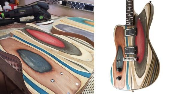 guitarras feitas de Skate 6