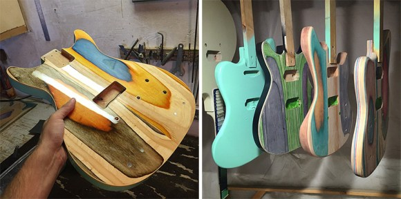 guitarras feitas de Skate 7