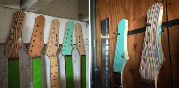 guitarras feitas de Skate 8