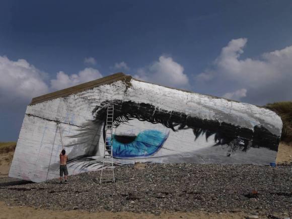 Mural olho mar 2