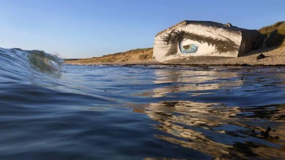 Mural olho mar 3