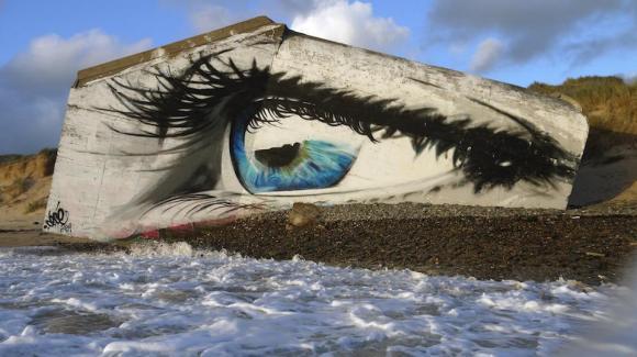 Mural olho mar 5