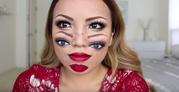 Ela fez uma pintura facial que vai confundir seu cérebro