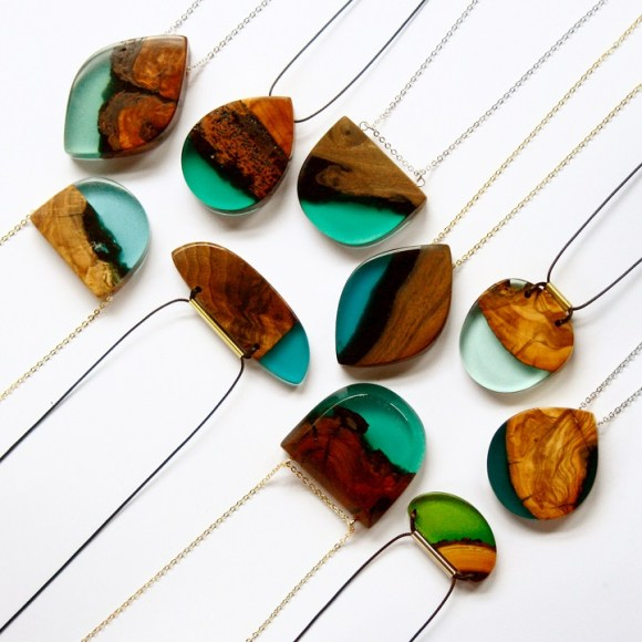 Joias de pedaços de madeira 5