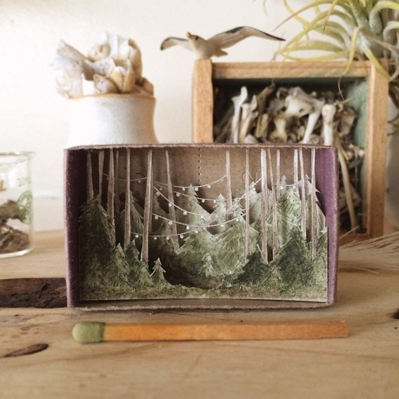 Arte - mundos em caixas de madeira 14