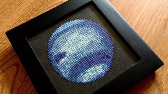 Bordado de planetas - Netuno 2