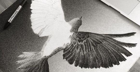 Artista cria desenhos super realistas com pontilhismo