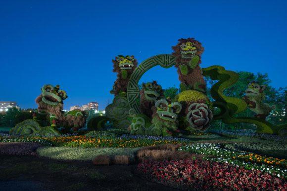 Monstros ou dragões de moisaicultura