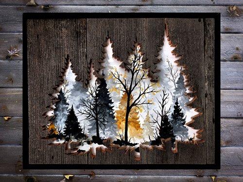 Pinheiros vazados com pinheiros