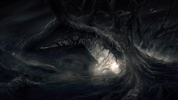 Casa e árvore Darkwood