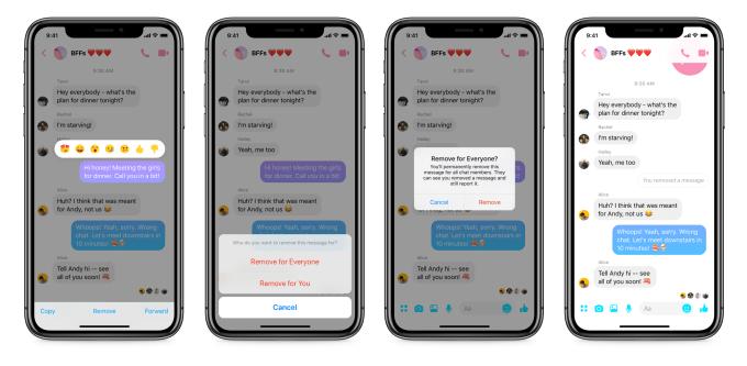 The Social Recap; week 6 - Unsend Messages Facebook Messenger