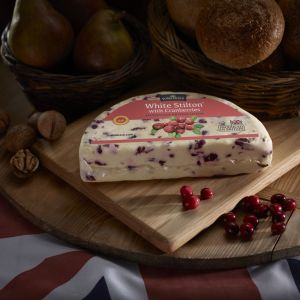 Somerdale White Stilton with Cranberrys - Half Deli Wheel