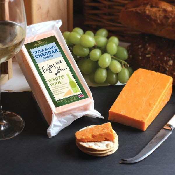 Somerdale Enjoy Me With White Wine Extra Sharp Cheddar Cheese