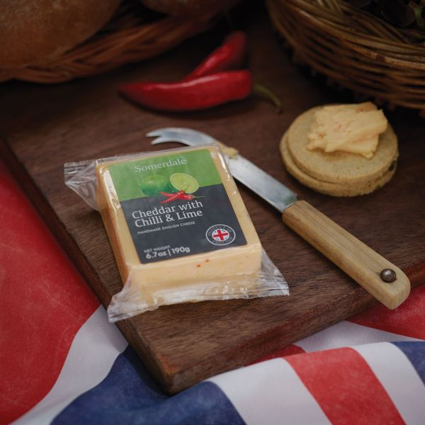 Somerdale Cheddar with Chilli and Lime - Retail Portions