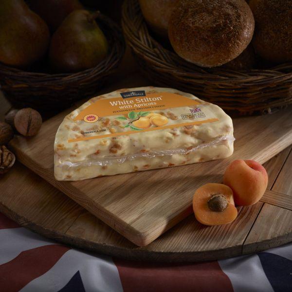 Somerdale White Stilton with Apricot - Half wheel
