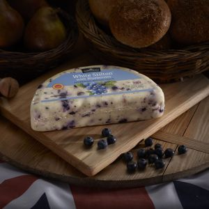 Somerdale White Stilton with Blueberries - Half Deli Wheel