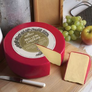 Somerdale Red Lion Cheddar - 3kg waxed deli wheel