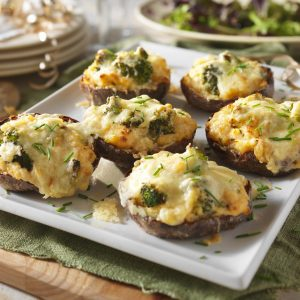 Broccoli & Cheddar Baked Potatoes