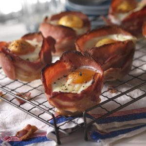 Cheesy Egg and Bacon Cups Recipe