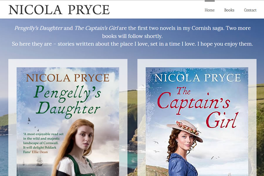 Nicola Pryce - Book author website designers in Somerset