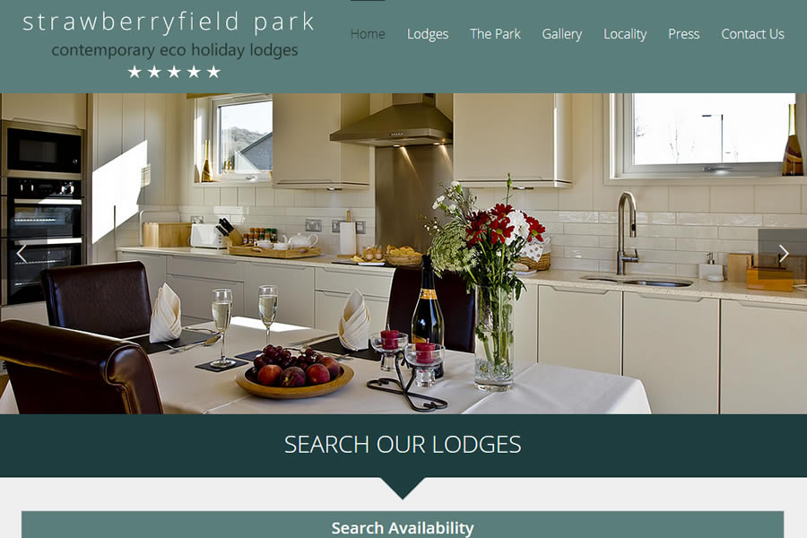 5 Star Platinum Holiday Lodge Website Design in Somerset