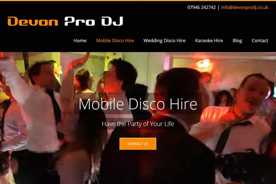 Mobile DJ website Designers in Somerset and Devon