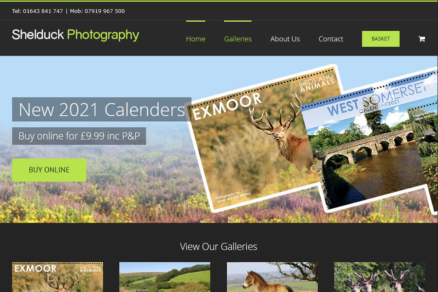Photographer eCommerce Website Designers in Minehead