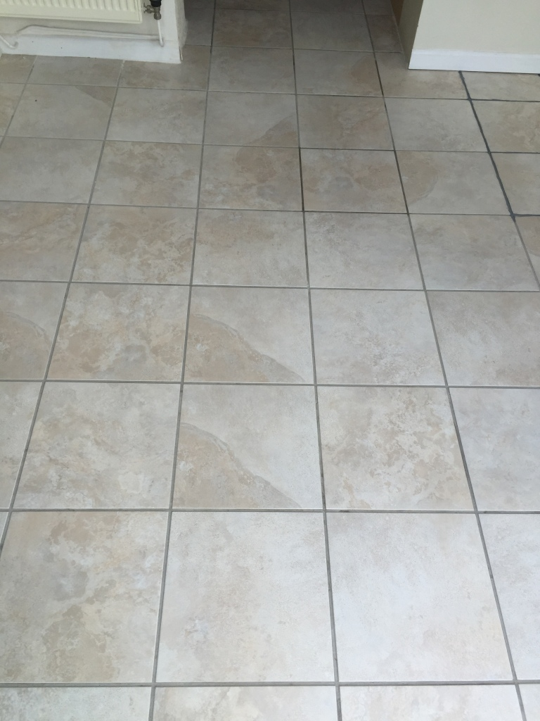 Ceramic Tiles Somerton After Cleaning but Before Grout Colouring