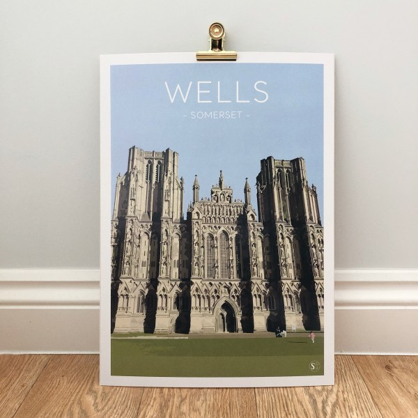 A3 Print of Wells Cathedral