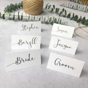 Personalised wedding place names