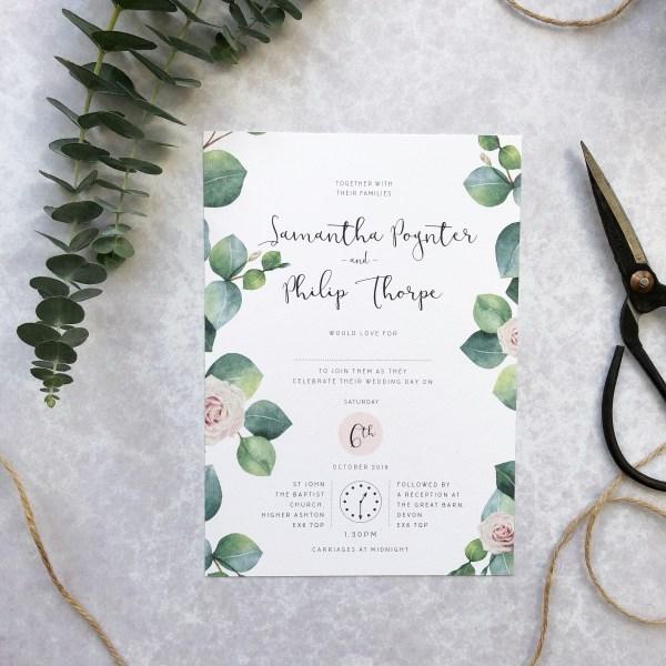 Wedding Invitation flatlay
