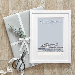 product photo for print of weston-super mare