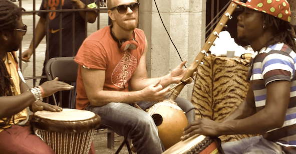 Drummers african style.