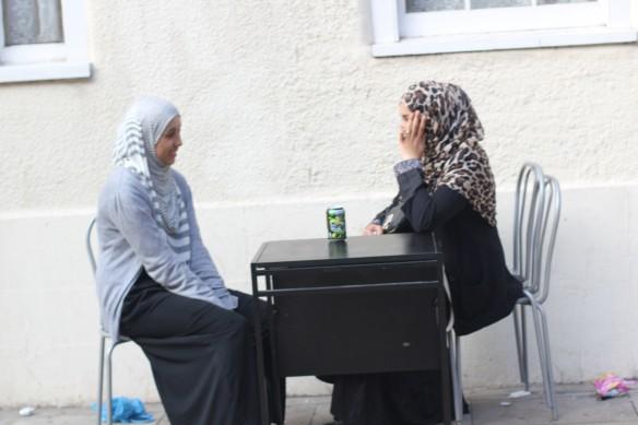 ladies chatting.