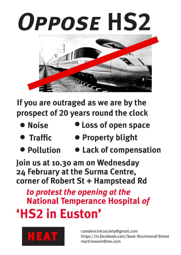 Hs2 protest poster.