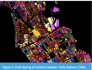 A map of Camden by age of buildings