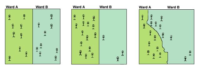 Diagram of ward boundaries.