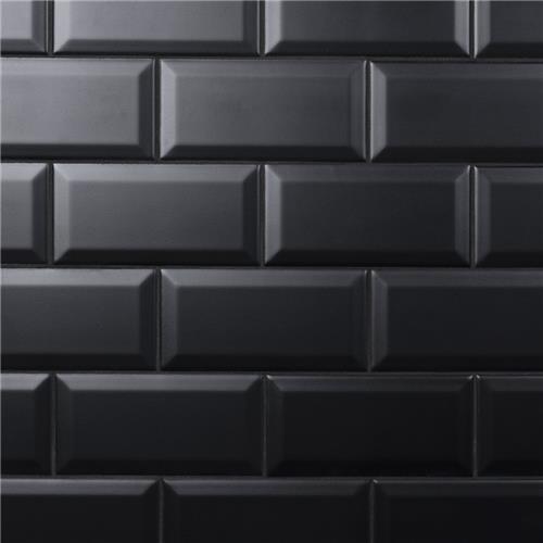 crown heights beveled matte black 3 x6