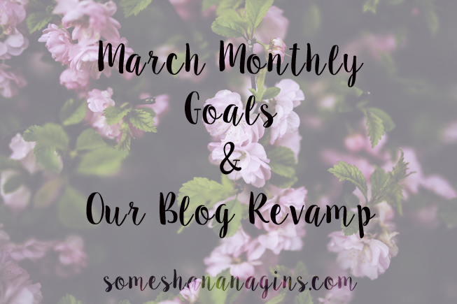 March Monthly Goals - Some Shananagins