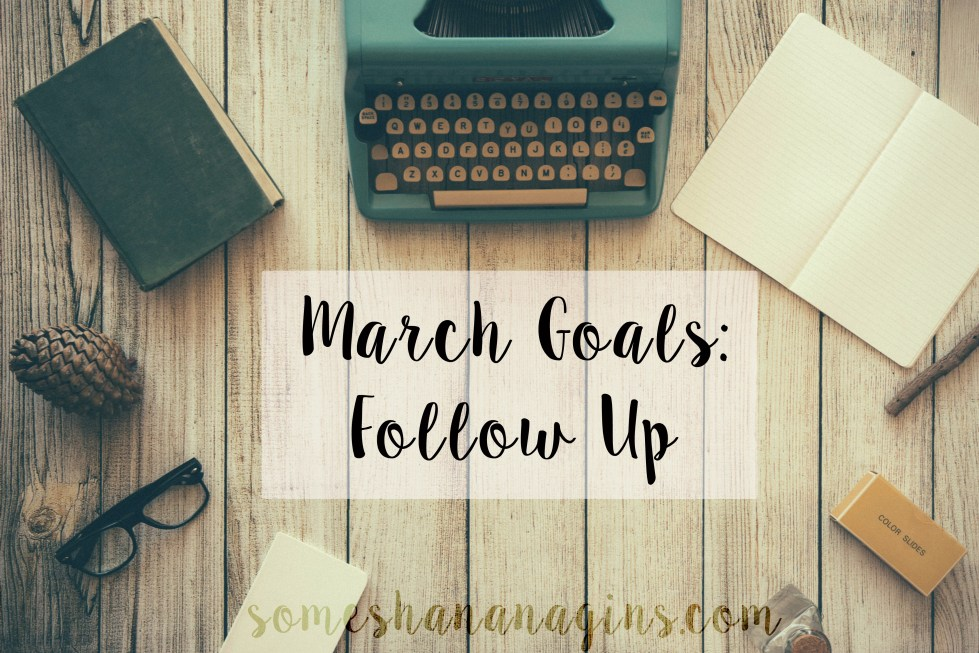 March Goals: Follow Up - Some Shananagins