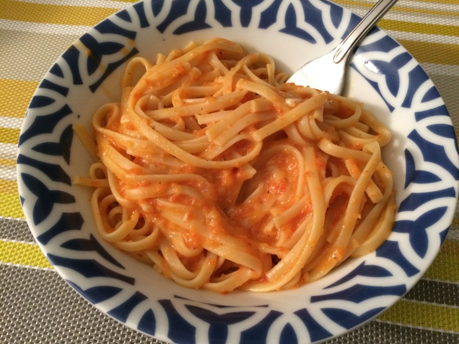 Vegan Roasted Red Pepper Pasta - Some Shananagins