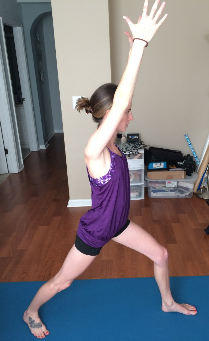 Yoga Challenge Day 10: Warrior 1 Pose - Some Shananagins