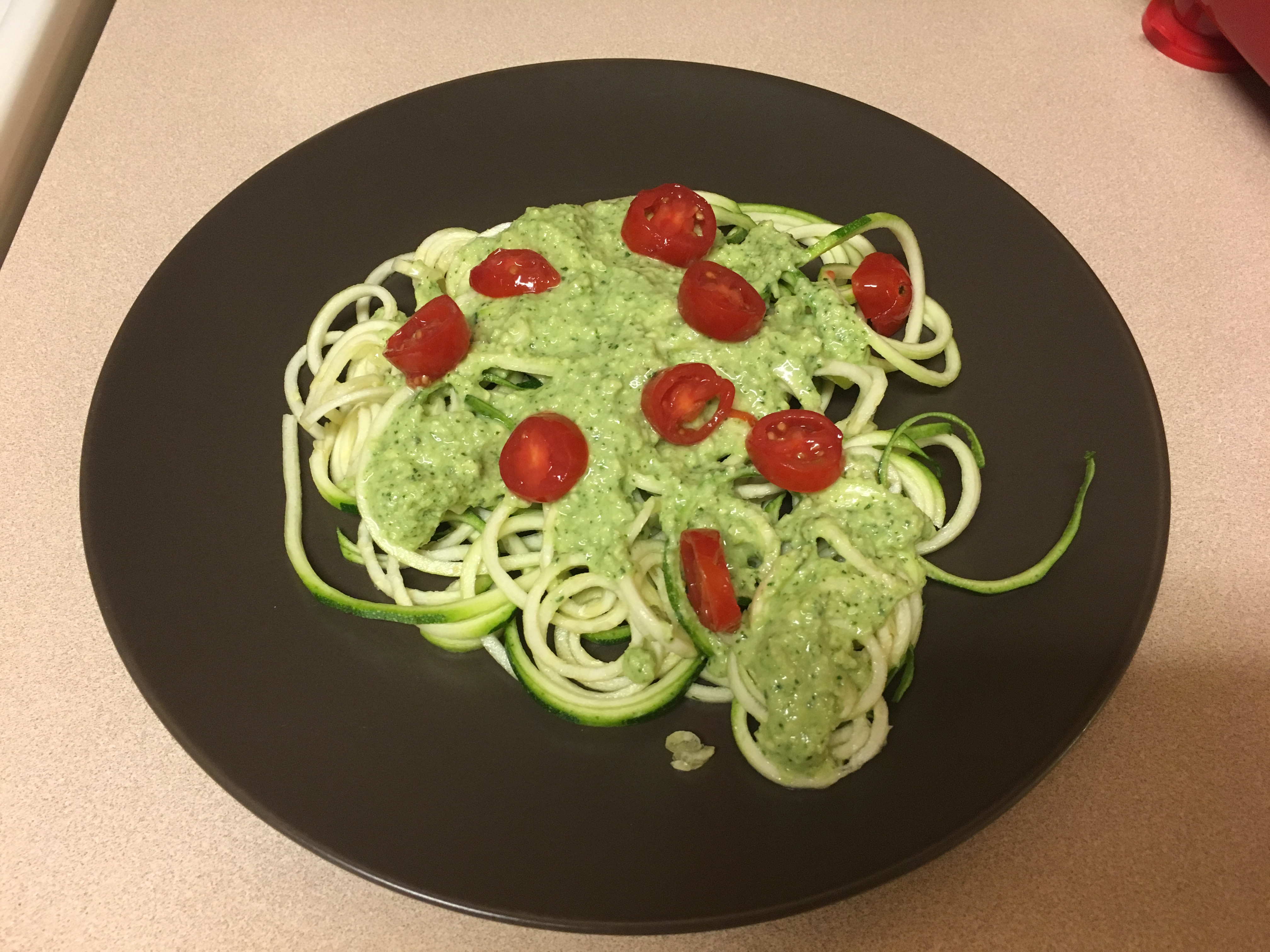 Zoodles with Avocado Sauce - Some Shananagins